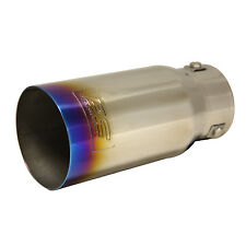 "DC Sports Titanium Burnt Exhaust Tip lnl 2.875"" Out 3.5"""