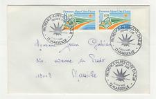 France 2 timbres sur lettre FDC 1983 tampon Marseille /L754