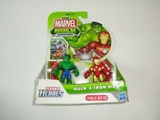 NEW Playskool Marvel Hulk Adventures, Iron Man, Hulk, 2 Pack Super Hero