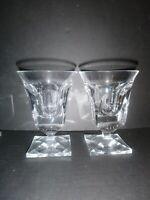 """Set of 2 Vintage Moser Sherbert Ice Cream Glasses 4 7/8"""""""