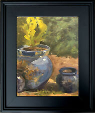 Original Oil Painting Art Still Life Landscape Impressionism pot 9X12 KEG signed