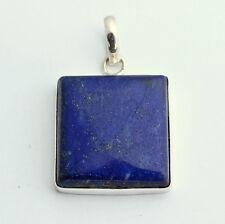 Lapis-Lazuli edelstein Anhänger 925 SterlingSilber Schmuck blau Edel Geschenk