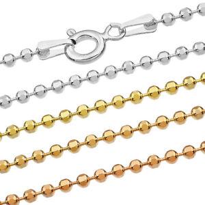 Kugelkette Silberkette - SS 925 - 1.0-1.9 mm + 40,45,50,55,60,65,70,75 cm