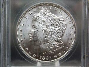 "1891 ""CC"" Morgan Silver Dollar $1 ICG MS62 VAM-3 ""SPITTING EAGLE"" ECC&C, Inc."