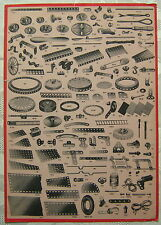 Prospekt Normal-Spezialteile für MÄRKLIN MetallBaukasten 1950 True Vintage