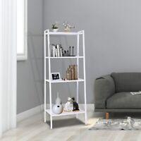 "57"" 4-Tier Durable Bookcase Bookshelf Leaning Wall Shelf Shelving Ladder"