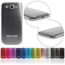 Samsung Galaxy s3 i9300 premium batería Tapa protección, funda protectora, funda tipo bumper, cepillado