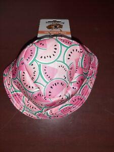 SimplyDog Doggie Hat for Medium - Large Dogs Dog Sun Hat Watermelon Pattern NWT