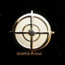 SNIPER SCOPE HAT LAPEL PIN US ARMY MARINES NAVY AIR FORCE USCG RIFLE PISTOL WOW