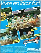 Publicité Advertising 1984 Le Mobilier de Jardin Triconfort