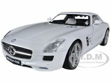 MERCEDES SLS AMG GULLWING WHITE 1/18 DIECAST CAR MODEL BY MOTORMAX 79162
