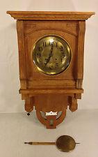 Antique Gustav Becker Free Swinger Regulator Clock Runs Strikes No Topper 1911