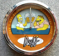 THE SIMPSONS CLOCK DUFF Can't Get Enough Of That Wonderful Duff