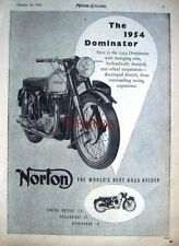 1954 Norton 'DOMINATOR' Motor Cycle ADVERT (487g) - Original Print Ad