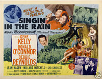 Singin' in the rain 1952 cult movie poster print