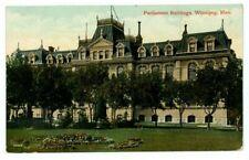 Parliament Buildings Winnipeg Canada 1912 Postcard US1003