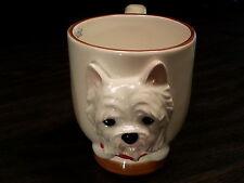 WESTIE Dog Porcelain Coffee Mug Cup Ceramic Figurine Quality By DNC Arcadia NIB