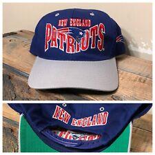 Vintage New England Patriots Hat snapback ANI blockhead Script two tone Cap rare