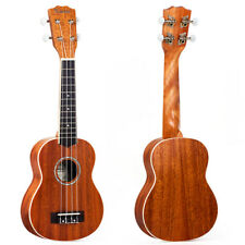 Ukulélé Soprano 21 pouces Hawaii Guitare Mahogany Top Abalone Soundhole