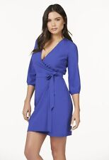 JUST FAB Jewel Blue Woven Wrap Dress, Sz S NWT