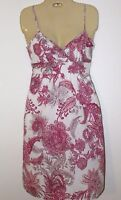 CHARLOTTE RUSSE Women's Small Pink & White Floral Sleeveless Tie Back Dress