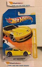 '11 Corvette Grand Sport #32 * Yellow * 2011 Hot Wheels * Y2