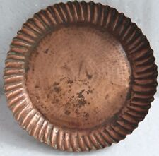 Antique Beautiful Shape & Design Copper Round Plate