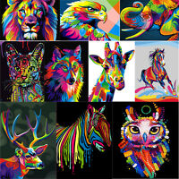 5D DIY Rainbow Animals Diamond Painting Embroidery Cross Stitch Kit Mosaic Craft