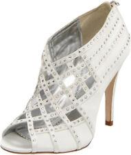 Bourne Tamsin Bridal Shoes UK5 �151 Ivory Satin Diamante Crystal Lattice Wedding