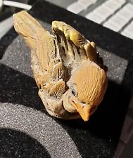 Mini Spatzen Figur Plastellin etwa 41 mm hoch