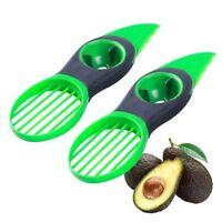 (2 Pack) 3 in 1 Avocado Cutter Tool Slicer Peeler Scoop Slices Green Knife