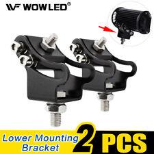 2 X LED Work Light Bar Mounting Bracket Slide Adjustable Lower Mounting Bracket