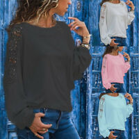 Womens Lace Floral Long Sleeve Blouse Winter Casual Shirt Loose Tops  Jacket lot