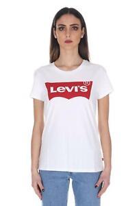 17369 0053 T SHIRT basic LEVIS donna The Perfect Graphic Tee maglietta maglia