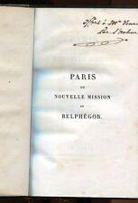 PARIS OU LA NOUVELLE MISSION DE BELPHEGOR de P. FLAMEN 1838-RARE