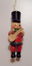 Vintage 1980 R.Dakin Toy Soldier Playing Guitar Wooden Christmas Ornament