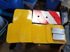8 Small Custom One Sided Aluminum Marine Maritime Signs Yellow Orange/White