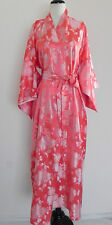 Joli Made in Japan Silk Robe Full Length Peach Tone Belted One Size