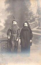 BJ245 Carte Photo vintage card RPPC Enfant déguisement barbe costume studio