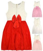 Girls Sleeveless Lace Party Dress New Kids Wedding Bridesmaid Flower Girl Dress