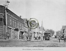 "St. Stephen, New Brunswick CA""King St Looking North"" in 1896 Reprint Pro glossy"