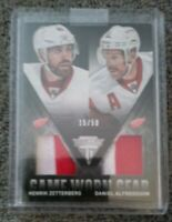 2013 Panini Titanium Game-Worn Gear Combo Materials Patch/50 Henrik Zetterberg.