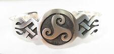 925 sterling silver cuff bracelet with Celtic knot design matte finish