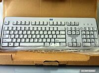 HP Tastatur 326228-B31 Keyboard UK Layout (QWERTY) für Thinclient und PC, grau