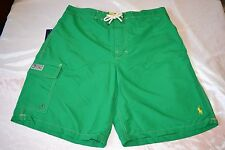 Polo Ralph Lauren Swimming Board Trunks Color Kayak Green Men's Size X-Large NWT