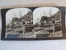 WW1 REGIMENTAL HEADQUARERS BACK OF SERBIAN FRONT! WWI KEYSTONE STEREOVIEW V18888