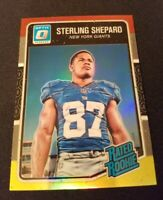 B70 2016 Donruss Optic Red and Yellow #194 Sterling Shepard RR NEW YORK GIANTS