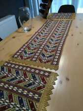 Gorgeous Handmade embroidery tablecloth set 3 pcs table toppers decor NOT PRINT