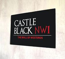 Juego De Tronos inspirado Castillo Negro Poniente noches Reloj Negro signo A4