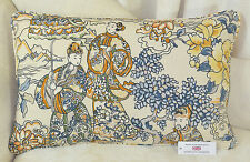 """CUSHION COVER 25""""x16"""" 63.5cmx41cm Textra Imperial Garden Oriental Piped Oval"""